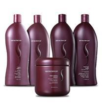 Kit Senscience Cpr Mascara Inner Restore Intensif 500gr Com Shampoo E Condicionador True Hue Violet -