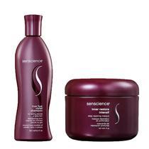 Kit Senscience Shampoo True hue Violet300ml e Máscara Ineer Restore150 -