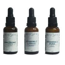 KIT Sérum NEXT SKIN Hialurônico com Vit E + Vitamina C Pura 35% + Complexo Antioxidante com Ferulic Alta Potencia -