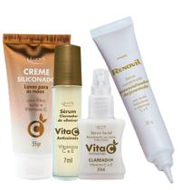 Kit Sérum Vita C anti sinais clareador olheiras vitamina C e E - Lucys