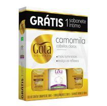 Kit sh 340ml+cond 340ml+sabonete in 100ml camomila  *(1,2) - Gota Dourada