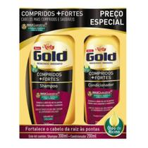Kit sh + co niely gold 300ml compridos+fortes - Seu gil