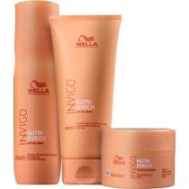 Kit Shampoo 250ml + Condicionador 200ml + Máscara 150ml Invigo Nutri Enrich Wella -