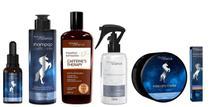 Kit shampoo caffeine's therapy e shampoo purificante e máscara e sérum e ampola e reorganizador - Magic Science
