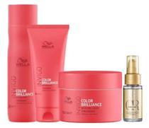 Kit Shampoo, Cond, Máscara Brilliance e Oil - Wella - Wella Professionals