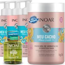 Kit Shampoo, Cond, Máscara E Óleos Argan Oil Inoar -