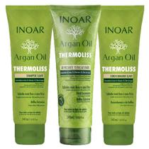 Kit Shampoo + Condicionador + Balsamo Inoar Argan Oil Thermoliss