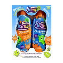 Kit Shampoo + Condicionador Beauty Slime Azul Neon 200ml cada -