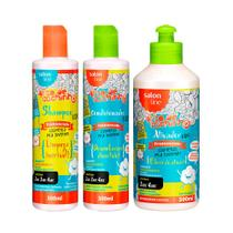 Kit Shampoo Condicionador e Ativador de Cachos Legal é Hidratar Kids TodeCachinho - Salon Line