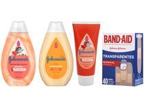 Kit Shampoo Condicionador e Creme de Pentear - Infantil Johnsons Baby + Curativo Band-Aid 40 Un.
