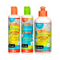 Kit Shampoo Condicionador e Creme para Pentear Legal é Hidratar Kids TodeCachinho - Salon Line