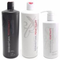 Kit Shampoo Condicionador E Máscara Sebastian Penetraitt -