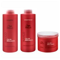 Kit Shampoo Condicionador e Máscara Wella Collor Brilliance Invigo