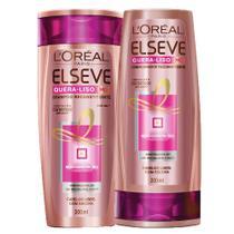 Kit Shampoo + Condicionador L'Oréal Paris Elseve Quera-Liso 230C -