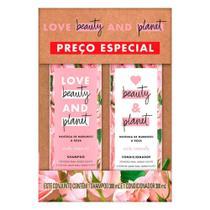 Kit Shampoo + Condicionador Love Beauty and Planet Manteiga de Murumuru e Rosa 300ml -