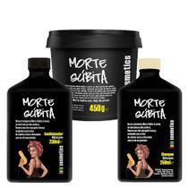 Kit Shampoo + Condicionador + Máscara Capilar Lola Cosmetics Morte Súbita -