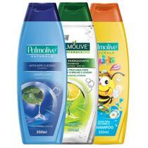 Kit Shampoo: Detox 350ml +  Anticaspa Classic 350ml + Naturals Kids 350ml - Palmolive