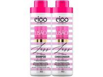 Kit Shampoo e Condicionador Eico Cosméticos - Lisão 800ml cada -
