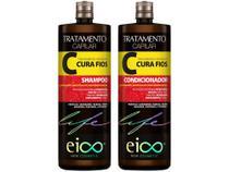 Kit Shampoo e Condicionador Eico New Cosmetic - Life Cura Fios 1L cada -
