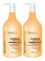 Kit Shampoo E Condicionador Force Repair 1lt - Forever Liss -
