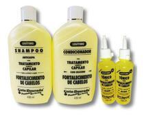 kit Shampoo E Condicionador Gota Dourada + 2 Tônicos De Alho -