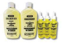 Kit Shampoo E Condicionador Gota Dourada + 3 Tônicos De Alho -