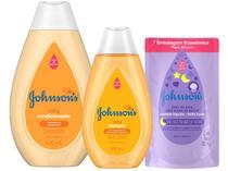 Kit Shampoo Gold 200ml e Condicionador Regular  - 400ml Infantil Johnsons Baby + Sabonete Líquido