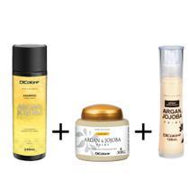 Kit Shampoo + Máscara + Spray Desembaraçador- Argan e Jojoba Dicolore -