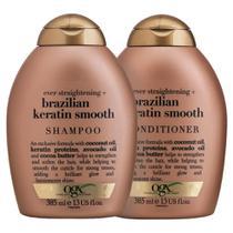 Kit Shampoo OGX Brazilian Keratin Smooth 385ml + Condicionador OGX Brazilian Keratin Smooth 385ml -