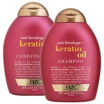 Kit Shampoo OGX Keratin Oil 385ml + Condicionador OGX 385ml -