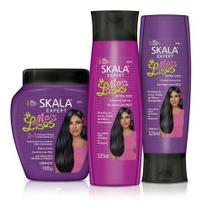 - Kit Skala Mais Lisos Condicionador+shampoo+creme Tratamento -