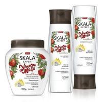 - Kit Skala Vinagre De Maça Condicionador + Shampoo + Creme -