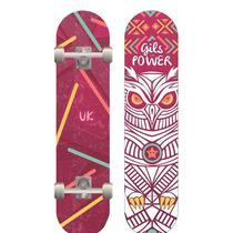 Kit Skate Feminino Com Acessorios 5 Pcs Ks1400-f Unik -