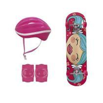 Kit skate infantil menina - mor -
