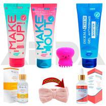 Kit Skin Care Cuidados Facial E Limpeza Da Pele Skincare - Dermachem Max Love