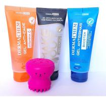 Kit Skin Care Esponja Polvo + Esfoliante + Vitamina C + Anti sinais - Dermachem