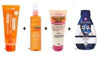 Kit Skin Care: Gel Anti-idade + Tônico Facial + Esfoliante + Máscara Peel Off Azul - Dermachem