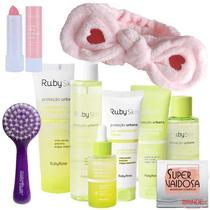 Kit Skin Proteção Urbana Ruby Rose Limpeza e Cuidado Facial -