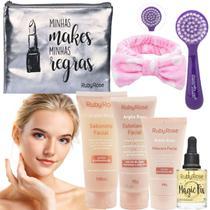 Kit Skincare Completo Mascara Sabonete Serum Ruby Rose -