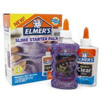 Kit Slime com 2 Colas Glitters 177ML e 2 Colas Translucidas 147ML Roxa ELMERS 39819 -