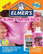 kit Slime Elmer's 2 Colas Glitters Rosa 177 ml E 2 Colas Translucidas 147ml - Toyng -