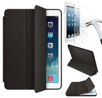 Kit Smart Case Ipad 9.7 2018 Ipad 6 Apple A1893 Sensor Sleep Preta + Película de Vidro - Importada