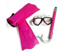 Kit Snorkel com Máscara e Nadadeiras - Belfix -