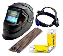Kit Solda Máscara automática + Esquadro Magnético + Eletrodos - Titanium