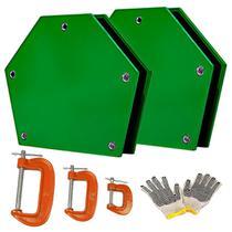 Kit Soldador 4 Esquadro Magnético 12kg Eletrodo Serralheiro - Axt