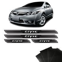 Kit Soleira Diamante Honda New Civic Protetor De Porta - Sportinox