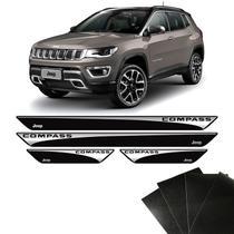 Kit Soleira Jeep Compass 2017/2019 Com Adesivo Protetor de Porta - Sportinox