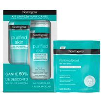 Kit Solução Micelar Neutrogena Purified Skin 7 em 1 200ml + 50% Desconto Gel 80g + Máscara de Hidrogel Neutrogena Purifying Boost 30ml -