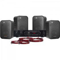 Kit Som Ambiente 400W Musical AMBIENCE 4000 Preto HAYONIK -