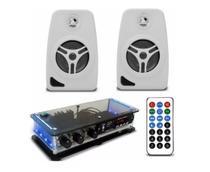 Kit Som Ambiente Amplificador Bluetooth Estéreo + 2 Caixas de Parede Acústica - Orion Áudio